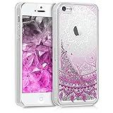 kwmobile Apple iPhone SE / 5 / 5S Hülle - Handyhülle für Apple iPhone SE / 5 / 5S - Handy Case in Pink Weiß Silber