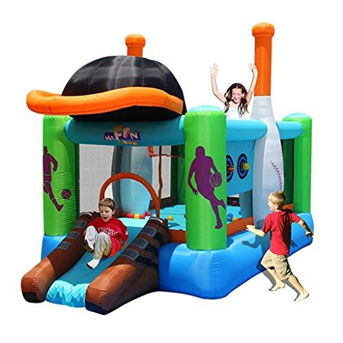 Bouncy Castles Sports Toys Inflatable Trampoline Household Slide Large Children's Inflatable Toy Child Garden Inflatable Children's Room Children's Amusement Park