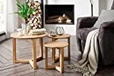 lifestyle4living Couchtisch, Wohnzimmertisch, Tisch, Salontisch, Kaffeetisch, Beistelltisch, Sofatisch, Telefontisch, Asteiche, Massivholz, Geölt