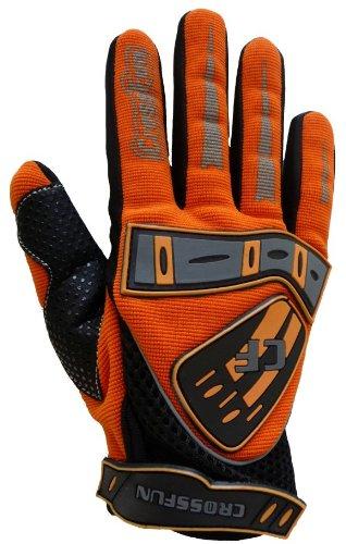 Kinder Motocross Handschuhe orange Größe XS
