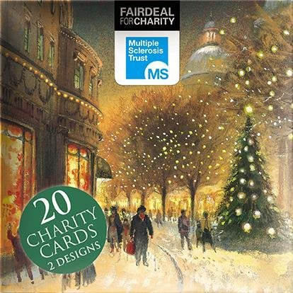 Preisvergleich Produktbild Weihnachtskarte Box (alm2335) – Christmas Eve – um die Tree – Box von 20 Karten – 2 Designs – Verkauft in Aid of The Multiple Sclerosis Trust
