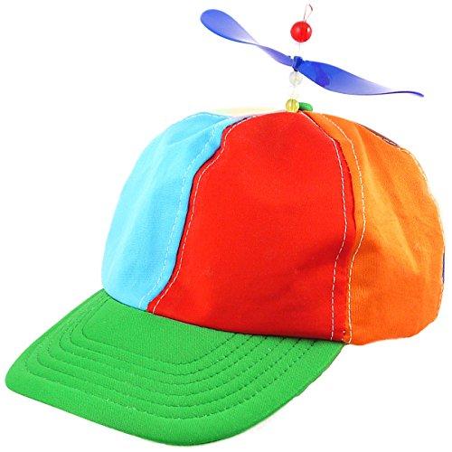 Baseball Cap mit Propeller Orange Blau Rot Gelb Basecap Propellercap Baseballcap