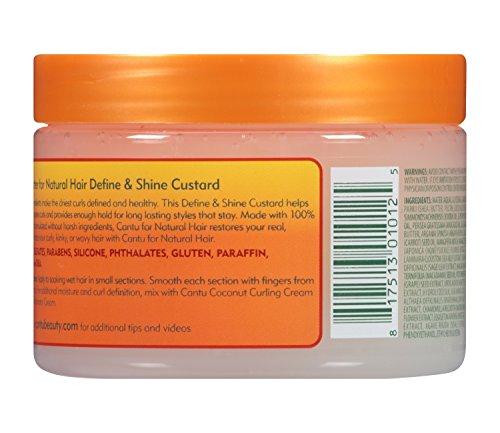 5d217095a9a5 Cantu Shea Butter for Natural Hair Define & Shine Custard 12 Ounce ...