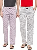 #2: Nick & Jess Men's Printed Cotton Lounge Bottom Pajamas - Combo Pack of 2