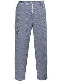 Portwest C078 - Chester Chef Pantalones, color , talla Large