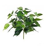justoyou 4unidades 1ft Artificial artificial plantas verde para interior jardín al aire libre...