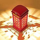 Lampade da Tavolo, Meco Lampada da Scrivania Lampada da Comodino LED USB Ricaricabile Cabinetto del Telefono di Londra Dimmerabile Luce Notturna per Camera Decorazione Bambini Regalo Compleanno