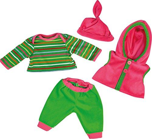 Bayer Design - Conjunto con camiseta, pantalón y chaleco para muñecas, color verde y fucsia (84620)