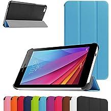 "Huawei MediaPad T1 7.0 Ultra Funda,Mama Mouth Ultra Slim Ligera PU Cuero Con Soporte Funda Caso Case para 7"" Huawei MediaPad T1 7.0 T1-701W Android Tablet,Azul"