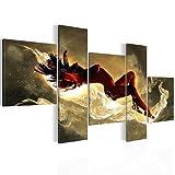 Bilder 130 x 65 cm - Abstrakt Bild - Vlies Leinwand - Kunstdrucke -Wandbild - XXL Format – mehrere Farben und Größen im Shop - Fertig zum Aufhängen - !!! MADE IN GERMANY !!! - Frau – Erotisch 3009521a