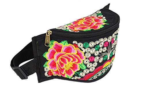 ZYT Handbestickte Frauen kreative Handtasche kleine Tasche Geldbörse peony
