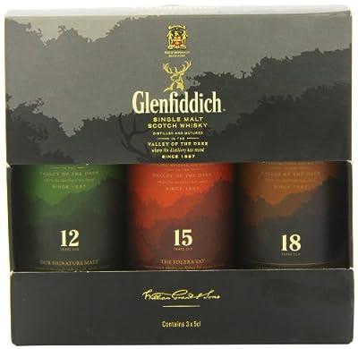 Glenfiddich 3 x 5cl Miniature Single Malt Whisky Gift Set