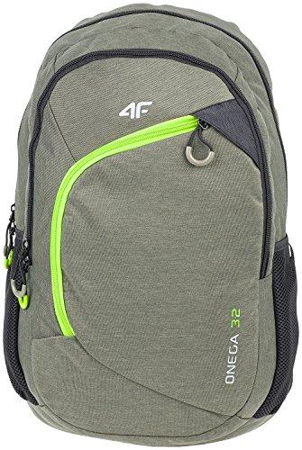 4F Rucksack Schulrucksack mit Laptopfach Groß Kapazität 32L Wandern PCU008 SS17 (, ) Khaki