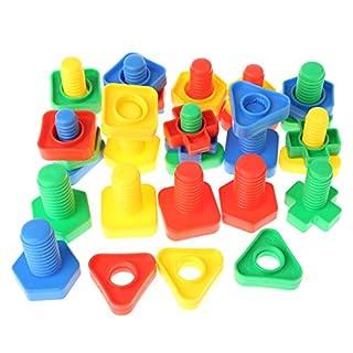 Freshsell Einsteckblöcke, Schrauben Bausteine, Nuss-Spielzeug, für Kinder