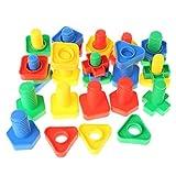 Freshsell - Bloques de inserción para Tuercas y Juguetes educativos, Juguete Montessori