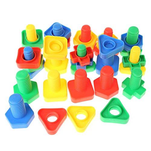 Vivianu - Juguetes educativos para niños Montessori, bloques de tornillos, bloques de construcción y tuercas