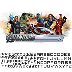 Roommates repositionable wall stickers marvel avengers for Avengers wall mural amazon