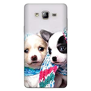 CrazyInk Premium 3D Back Cover for Samsung On7 2015 - Cutie Puppies