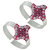 #6: PCM Red Enamel .925 Sterling Silver Toe Ring Jewelry For Women