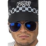 Smiffy's - Verspiegelte Pilotenbrille Pornobrille Sonnenbrille Blau
