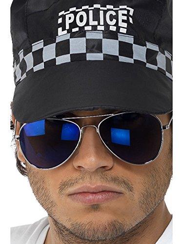 Smiffys - Verspiegelte Pilotenbrille Pornobrille Sonnenbrille Blau