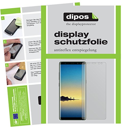 dipos I 4X Schutzfolie matt passend für Samsung Galaxy Note 8 Folie Bildschirmschutzfolie (2X Vorder- und 2X Rückseite)