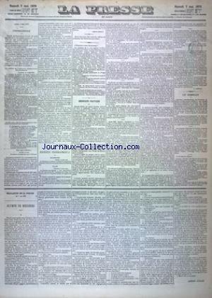 PRESSE (LA) du 07/05/1870