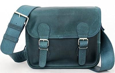 LaSacoche (S) Besace cuir bandoulière de couleur bleu Cobalt style Vintage PAUL MARIUS