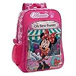 Zaino scuola graficamente decorato con l'immagine di Minnie Mouse icona Disney nel mondo intero e di quello per la moda per bambine. Internamente rivestito con fodera personalizzata, questo zaino è realizzato in microfibra e PVC. Gli spallacci imbott...
