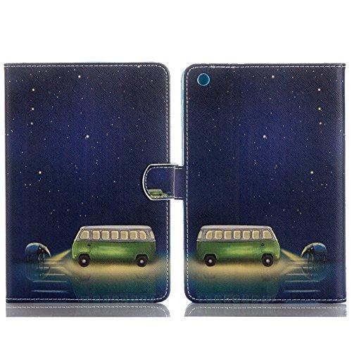 9.7'' iPad 4 Hülle , elecfan® Luxus Bookstyle Folio Hülle Tasche Ständer Magnet Auto Aufwachen Schlaf Funktion und Einstellbarem Blickwinkel Funktion Schutzhülle für iPad 2/3/4 (iPad 2/3/4, Farbige Bl Sternennacht