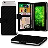 Carbon Fibre ZTE Nubia My Prague Case Clamp Style Protective PU Leather Cover By Fone-Case