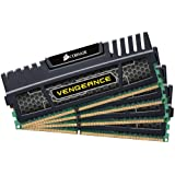 Corsair CMZ32GX3M4X1600C10 Vengeance 32 GB (4 x 8 GB) DDR3 1600 Mhz C9 XMP Performance Memory Kit - Black