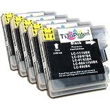 5x Brother DCP 195 C kompatible Premium XL Druckerpatronen in Schwarz. Sehr gute Laufleistung und Preiswert!