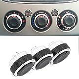 Boomboost Aluminiumlegierung Auto Klimaanlage Switch Knopf Schaltknopf Betätigen Schwarz