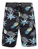 Unibelle Herren Sommer Badeshorts Swimming Trunks Beach Shorts Badehosen mit verstellbarem Tunnelzug & Taschen für Surfen