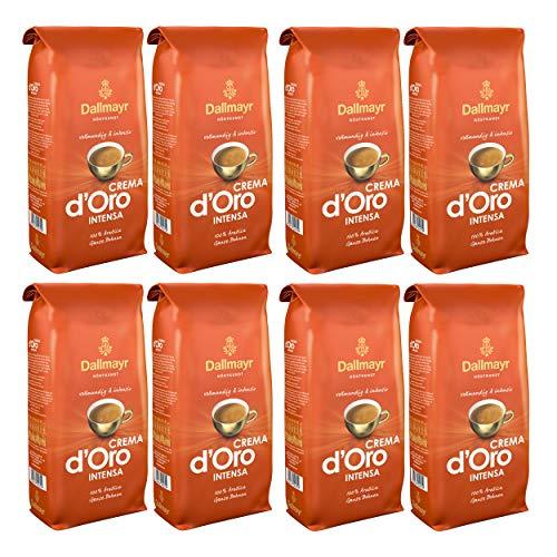 Dallmayr Crema d'Oro Intensa Kaffee, Bohnenkaffee, Röstkaffee, ganze Bohnen, Kaffeebohnen, 8 x 1000 g
