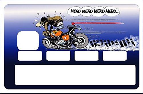 Stickers CB, decoratif, pour carte bancaire - edition limitée 100 ex.- merde, merde, merde.. -autocollant de haute qualité, création & fabrication Française