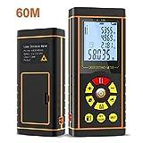 Laser Rangefinder EC Technology Distance Meter LCD 12 IN 1 Digitaler Laser Entfernungsmesser für optisches Band Diastimeter Messen Sie Roulette 40M/60M/80M/100M / 120M (Batterien nicht enthalten)