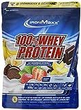 IronMaxx 100% Whey Protein – Proteinpulver auf Wasserbasis für Fitness-Shake – Eiweißpulver mit Erdbeer Geschmack – 1 x 500 g Beutel