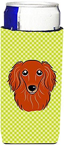 checkerboard-limette-grun-red-dachshund-langhaar-michelob-ultra-slim-bb1276muk-koozies-fur-dosen