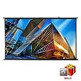 Écran de Projecteur Portable PVC 4K HD 266x149cm 120 Pouces Diagonale 16:9 Gain 1.1,Excelvan Écran de Projection à 160°Angle de Vision Mural Suspendu Installation Rapide pour Film Maison et Bureau