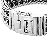 KUZZOI Herren Armband aus massivem 925er Sterling Silber, Breite 20 mm, Länge 19 cm, 335104-019 - 2