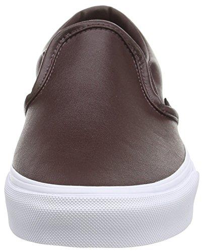 Vans U Classic, Unisex - Erwachsene Sneaker rouge (Leather - Burgundy)