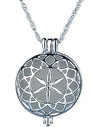 Yumilok - Medallón, con iluminación y cadena, aleación, color azul