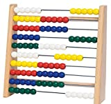 Abacus | Holz- Zählrahmen mit 100 Perlen | Lernspiel by RIVENBERT