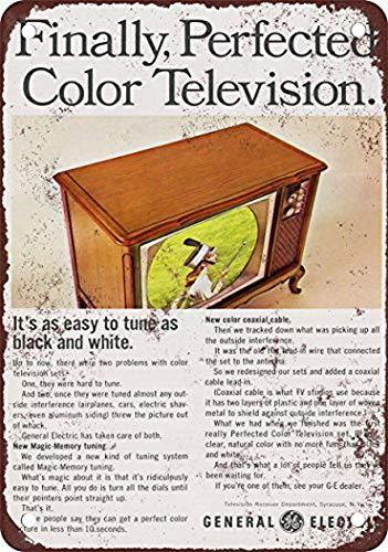 General Home Decor (Tengss 1966 General Electric Color Televisions Vintage Look Reproduktion Pub Home Decor Metallschilder 20,3 x 30,5 cm)