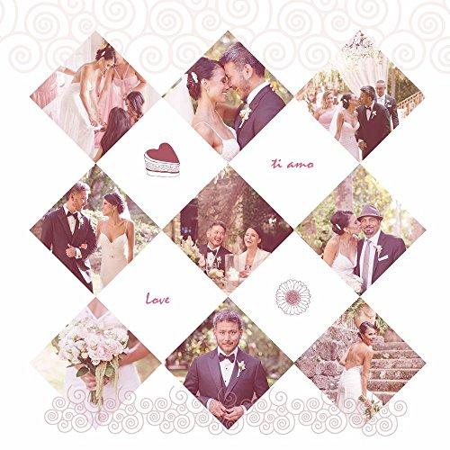ArtzFolio AZ Love Celebration Unframed Photo Collage Personalised Gift 30 x 30inch