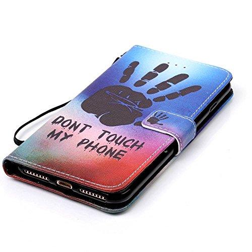 Owbb loup Housse en PU cuir de protection pour iPhone 7 Plus (5.5 pouces) étui coque de téléphone Color 11