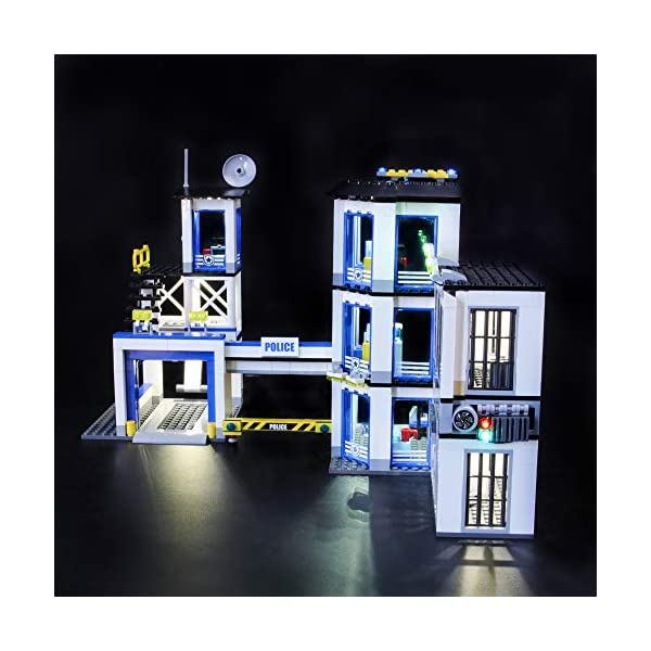 LIGHTAILING-Set-di-Luci-per-City-Stazione-di-Polizia-Modello-da-Costruire-Kit-Luce-LED-Compatibile-con-Lego-60141-Non-Incluso-nel-Modello