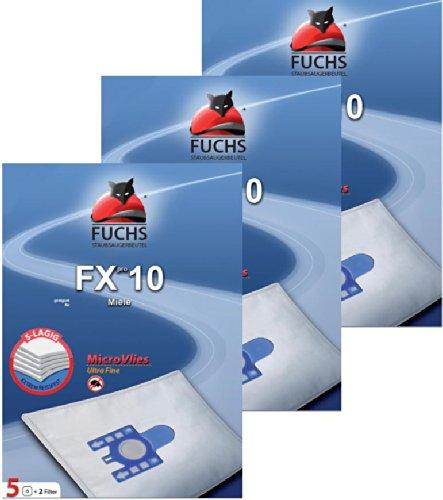Preisvergleich Produktbild 3 Pakete FXpro 10: 15 Staubsaugerbeutel, 3 Luftfilter, 3 Motorfilter für Miele Cat & Dog, S 8 Gr. G N H S 230, S5 400i - 499i S 5 S 5000 - 5999 Serie EcoComfort EcoLIne Premium
